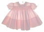 "<img src=""https://p11.secure.hostingprod.com/@grammies-attic.com/ssl/images/blue-sold-1.gif""> NEW Feltman Brothers Pale Pink Smocked Baby Dress with Lace Edged Collar and Embroidered Roses"