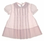 "<img src=""https://p11.secure.hostingprod.com/@grammies-attic.com/ssl/images/blue-sold-1.gif""> Feltman Brothers Pale Pink Baby Dress with Lace Insertion"