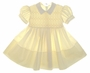"<img src=""https://p11.secure.hostingprod.com/@grammies-attic.com/ssl/images/blue-sold-1.gif""> Feltman Brothers Yellow Smocked Baby Dress with Lace Trimmed Collar"