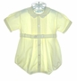 "<img src=""https://p11.secure.hostingprod.com/@grammies-attic.com/ssl/images/blue-sold-1.gif""> Feltman Brothers Pale Yellow Romper with Pintucks and Embroidered Collar"
