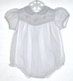 "<img src=""https://p11.secure.hostingprod.com/@grammies-attic.com/ssl/images/blue-sold-1.gif""> Carriage Boutiques White Bubble with Appliqued Baby Chicks"