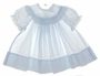"<img src=""https://p11.secure.hostingprod.com/@grammies-attic.com/ssl/images/blue-sold-1.gif""> Carriage Boutiques Pale Blue Baby Dress with Lace Insertion and Embroidery"