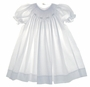 "<img src=""https://p11.secure.hostingprod.com/@grammies-attic.com/ssl/images/blue-sold-1.gif""> Petit Ami White Bishop Smocked Dress with White Embroidered Rosebuds"