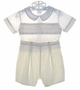 "<img src=""https://p11.secure.hostingprod.com/@grammies-attic.com/ssl/images/blue-sold-1.gif""> Petit Ami Yellow and White Smocked Button On Shorts Set"