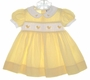 "<img src=""https://p11.secure.hostingprod.com/@grammies-attic.com/ssl/images/blue-sold-1.gif""> Carriage Boutiques Yellow Dotted Dress with Smocking and Embroidered Ducks"