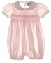 "<img src=""https://p11.secure.hostingprod.com/@grammies-attic.com/ssl/images/blue-sold-1.gif""> Carriage Boutiques Pale Pink Smocked Baby Bubble with Fagoted Collar"