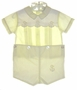 "<img src=""https://p11.secure.hostingprod.com/@grammies-attic.com/ssl/images/blue-sold-1.gif""> Carriage Boutiques Pale Yellow Button On Shorts Set with Ducks"