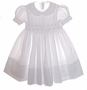"<img src=""https://p11.secure.hostingprod.com/@grammies-attic.com/ssl/images/blue-sold-1.gif""> NEW Feltman Brothers White Smocked Toddler Dress with White Embroidery"