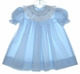 "<img src=""https://p11.secure.hostingprod.com/@grammies-attic.com/ssl/images/blue-sold-1.gif""> House of Hatten Blue Dotted Bishop Dress with Smocking and Embroidery"