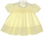 "<img src=""https://p11.secure.hostingprod.com/@grammies-attic.com/ssl/images/blue-sold-1.gif""> Classic Yellow Smocked Dress with Rosebud Embroidery"