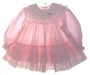 "<img src=""https://p11.secure.hostingprod.com/@grammies-attic.com/ssl/images/blue-sold-1.gif""> Bryan Pink Striped Baby Dress with Ruffles and Lace"