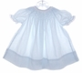 "<img src=""https://p11.secure.hostingprod.com/@grammies-attic.com/ssl/images/blue-sold-1.gif""> Alicia Jarret Blue Bishop Style Smocked Baby Dress with Eyelet Trim"