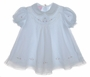 "<img src=""https://p11.secure.hostingprod.com/@grammies-attic.com/ssl/images/blue-sold-1.gif""> Will'beth Pale Blue Baby Dress with Sheer Embroidered Overlay"