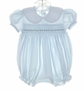 "<img src=""https://p11.secure.hostingprod.com/@grammies-attic.com/ssl/images/blue-sold-1.gif""> House of Hatten Pale Blue Smocked Bubble with Pink Rosebuds Embroidery"