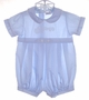 "<img src=""https://p11.secure.hostingprod.com/@grammies-attic.com/ssl/images/blue-sold-1.gif""> Alexis Blue Baby Romper with Train Embroidery"