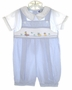 "<img src=""https://p11.secure.hostingprod.com/@grammies-attic.com/ssl/images/blue-sold-1.gif""> Carriage Boutiques Blue Smocked Shortall with Embroidered Ducks"