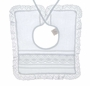"<img src=""https://p11.secure.hostingprod.com/@grammies-attic.com/ssl/images/blue-sold-1.gif""> NEW Dome Square Heirloom Style Baby Bib with Pintucks and Lace"