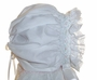 "<img src=""https://p11.secure.hostingprod.com/@grammies-attic.com/ssl/images/blue-sold-1.gif""> NEW Custom Made White Hand Smocked Baby Bonnet with Pink and Aqua Smocking"