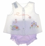 "<img src=""https://p11.secure.hostingprod.com/@grammies-attic.com/ssl/images/blue-sold-1.gif""> White Diaper Shirt with Lavender Turtle Embroidery and Lavender Striped Diaper Cover"