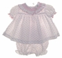 "<img src=""https://p11.secure.hostingprod.com/@grammies-attic.com/ssl/images/blue-sold-1.gif""> White Smocked Diaper Set with Pink Rosebuds For Baby Girls"