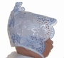 "<img src=""https://p11.secure.hostingprod.com/@grammies-attic.com/ssl/images/blue-sold-1.gif""> Heirloom 1940s Blue & White Lavishly Embroidered Bonnet"