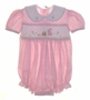"<img src=""https://p11.secure.hostingprod.com/@grammies-attic.com/ssl/images/blue-sold-1.gif""> House of Hatten Pink Plaid Smocked Bubble with Bunny Embroidery"