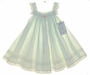 "<img src=""https://p11.secure.hostingprod.com/@grammies-attic.com/ssl/images/blue-sold-1.gif""> NEW Angels in the Attic Pale Green Baby Sundress with Embroidered Trim"