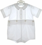 "<img src=""https://p11.secure.hostingprod.com/@grammies-attic.com/ssl/images/blue-sold-1.gif""> Feltman Brothers White Button On Shorts Set with Pintucks and Embroidery"