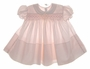 "<img src=""https://p11.secure.hostingprod.com/@grammies-attic.com/ssl/images/blue-sold-1.gif""> Feltman Brothers Pale Pink Smocked Baby Dress with Pink and White Embroidery"