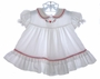 "<img src=""https://p11.secure.hostingprod.com/@grammies-attic.com/ssl/images/blue-sold-1.gif""> Bryan White Ruffled Baby Dress with Heart Embroidery"