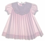 "<img src=""https://p11.secure.hostingprod.com/@grammies-attic.com/ssl/images/blue-sold-1.gif""> Petit Ami Pink Pleated Baby Dress with White Embroidered Portrait Collar"