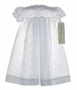 "<img src=""https://p11.secure.hostingprod.com/@grammies-attic.com/ssl/images/blue-sold-1.gif""> NEW Alexis Short Sleeved White Eyelet Christening Gown with Inverted Front Pleat"