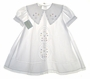 "<img src=""https://p11.secure.hostingprod.com/@grammies-attic.com/ssl/images/blue-sold-1.gif""> NEW Garden of Angels White Baby Dress with Embroidery and Lace Insertion"