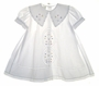 "<img src=""https://p11.secure.hostingprod.com/@grammies-attic.com/ssl/images/blue-sold-1.gif""> Garden of Angels White Baby Dress with Embroidery and Lace Insertion"