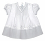 "<img src=""https://p11.secure.hostingprod.com/@grammies-attic.com/ssl/images/blue-sold-1.gif""> Feltman Brothers Embroidered White Baby Dress with Lace Insertion"