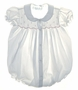 "<img src=""https://p11.secure.hostingprod.com/@grammies-attic.com/ssl/images/blue-sold-1.gif""> Feltman Brothers White Smocked Baby Bubble with Pink Embroidery"