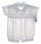 "<img src=""https://p11.secure.hostingprod.com/@grammies-attic.com/ssl/images/blue-sold-1.gif""> NEW Will'Beth White Smocked Linen Romper with White Embroidery"