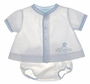 "<img src=""https://p11.secure.hostingprod.com/@grammies-attic.com/ssl/images/blue-sold-1.gif""> NEW Petit Ami White Diaper Set with Embroidered Bear with Blue or Yellow Trim"