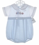 "<img src=""https://p11.secure.hostingprod.com/@grammies-attic.com/ssl/images/blue-sold-1.gif""> NEW Alexis Blue and White Romper with Embroidered Train"