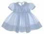 "<img src=""https://p11.secure.hostingprod.com/@grammies-attic.com/ssl/images/blue-sold-1.gif""> NEW Feltman Brothers Blue Smocked Baby Dress"