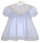 "<img src=""https://p11.secure.hostingprod.com/@grammies-attic.com/ssl/images/blue-sold-1.gif""> Jelly 'N Jam Blue Smocked Dress with Embroidered Portrait Collar"