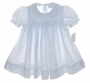 "<img src=""https://p11.secure.hostingprod.com/@grammies-attic.com/ssl/images/blue-sold-1.gif""> NEW Petit Ami Pale Blue Smocked Dress with Lace Trimmed Collar"