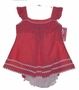 "<img src=""https://p11.secure.hostingprod.com/@grammies-attic.com/ssl/images/blue-sold-1.gif""> NEW Will'Beth Red Checked Pinafore Style Sundress with Ruffled Diaper Cover and Matching Sunhat"