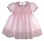 "<img src=""https://p11.secure.hostingprod.com/@grammies-attic.com/ssl/images/blue-sold-1.gif""> NEW Feltman Brothers Pink Smocked Dress with Lace Trimmed Collar"