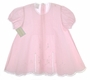"<img src=""https://p11.secure.hostingprod.com/@grammies-attic.com/ssl/images/blue-sold-1.gif""> NEW Garden of Angels Pink Pintucked Baby Dress with Lace Insertion and Embroidery"