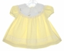 "<img src=""https://p11.secure.hostingprod.com/@grammies-attic.com/ssl/images/blue-sold-1.gif""> Rose Cottage Yellow Baby Dress with Lace and Rosebuds"