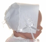 "<img src=""https://p11.secure.hostingprod.com/@grammies-attic.com/ssl/images/blue-sold-1.gif""> NEW White Linen Keepsake Embroidered Hanky Bonnet"