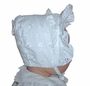 "<img src=""https://p11.secure.hostingprod.com/@grammies-attic.com/ssl/images/blue-sold-1.gif""> NEW White Eyelet Bonnet with Double Front Ruffle"