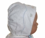 "<img src=""https://p11.secure.hostingprod.com/@grammies-attic.com/ssl/images/blue-sold-1.gif""> NEW MJ Collection White Heirloom Style Bonnet with Blue Embroidered Ducks"