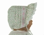 NEW Rosebud Print Bonnet with Pink Ribbon Insertion